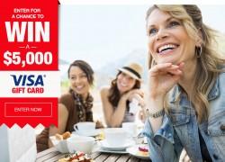 Enter To Win a $5,000 VISA Gift Card!
