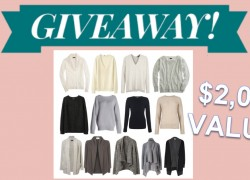 ENTER TO Win a Luxurious Cashmere Wardrobe [ $2000 Value! ]